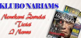 2 žurnalai klubo nariams dovanų
